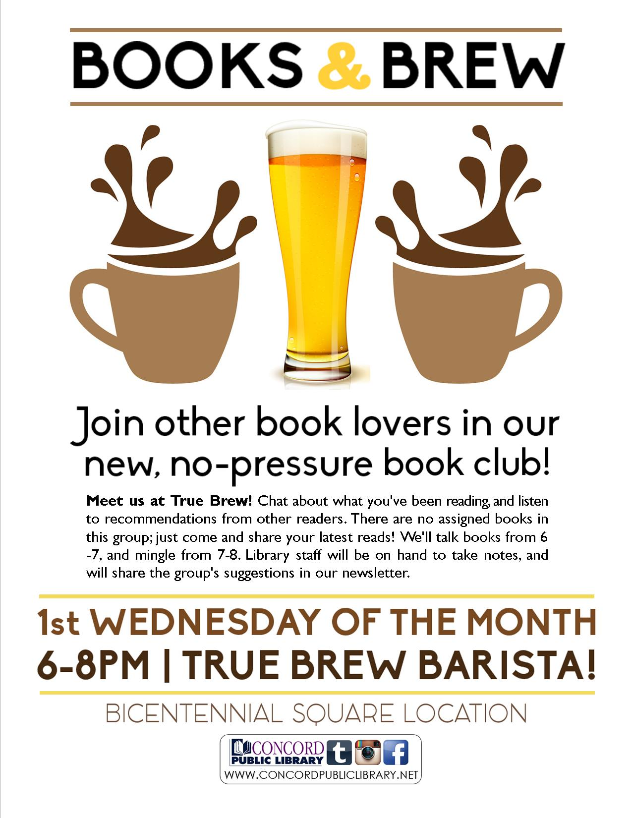 Books and Brew Flyer