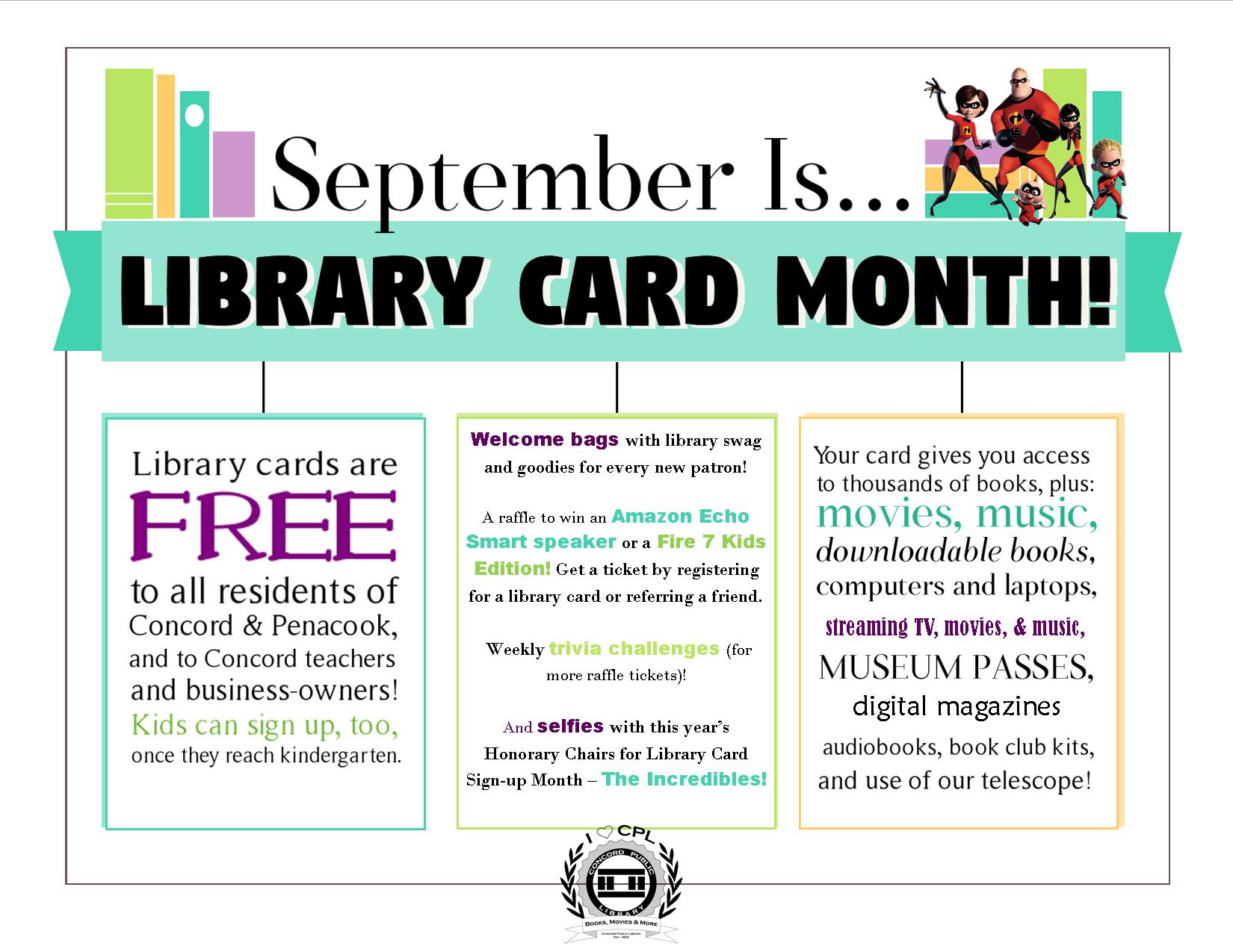 Library Card Month 2018 Poster