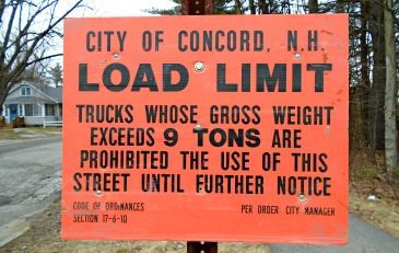 Spring Road Load Limit Sign Posting