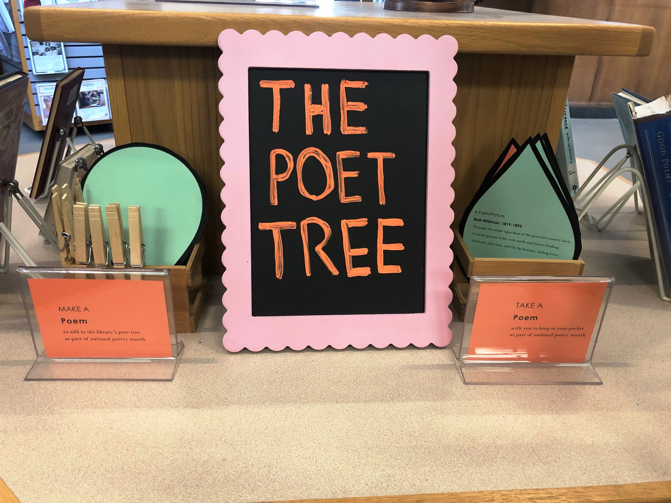 Poetry Month Display Make a Poem Take a Poem