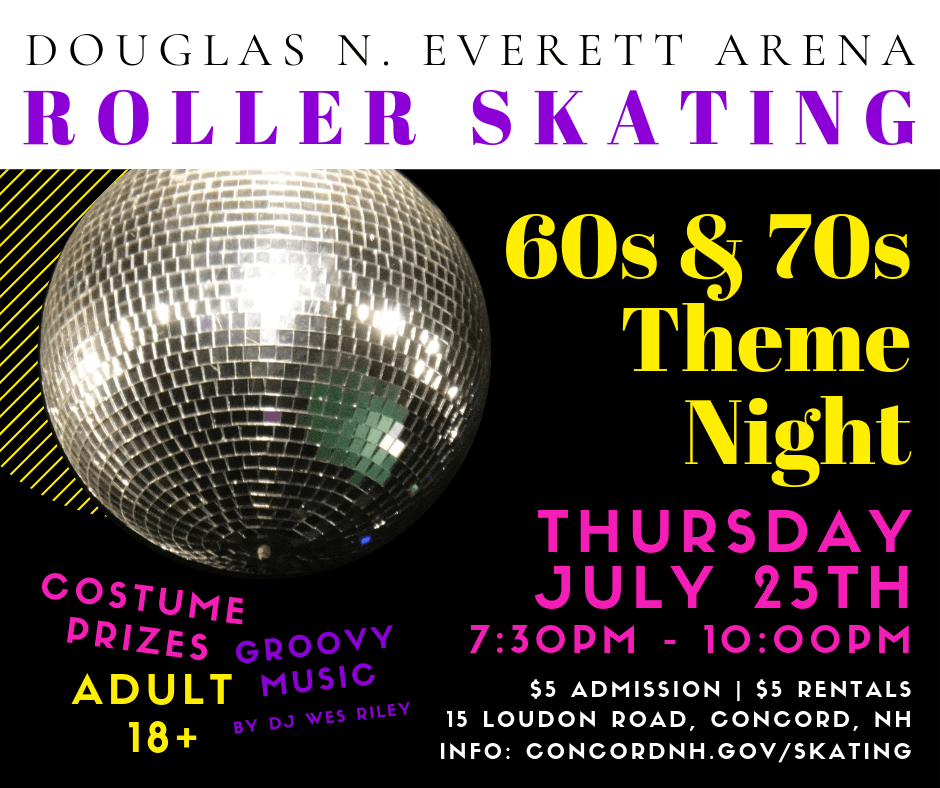 Roller Skating 60s 70s Theme Night