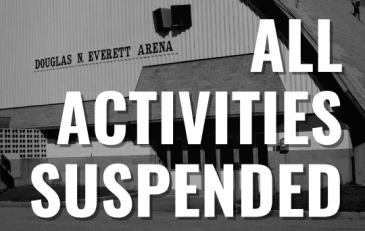 Arena Notice - Activities Suspended