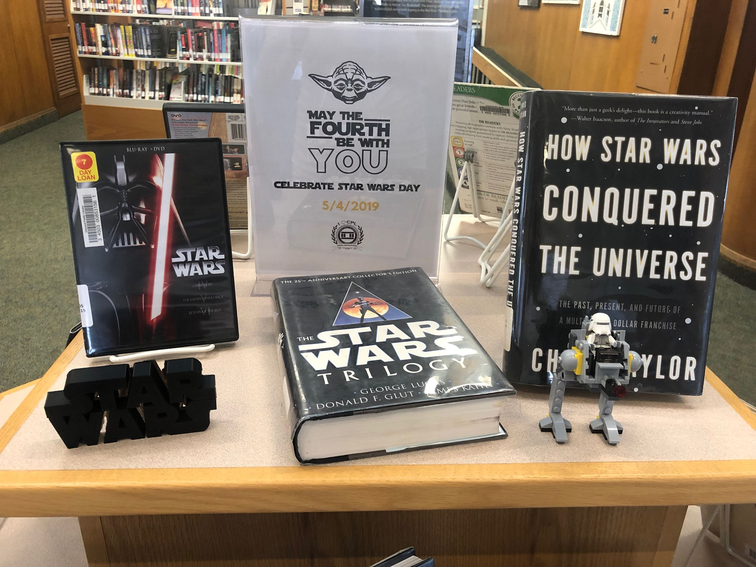 Star Wars Day Book Display 2