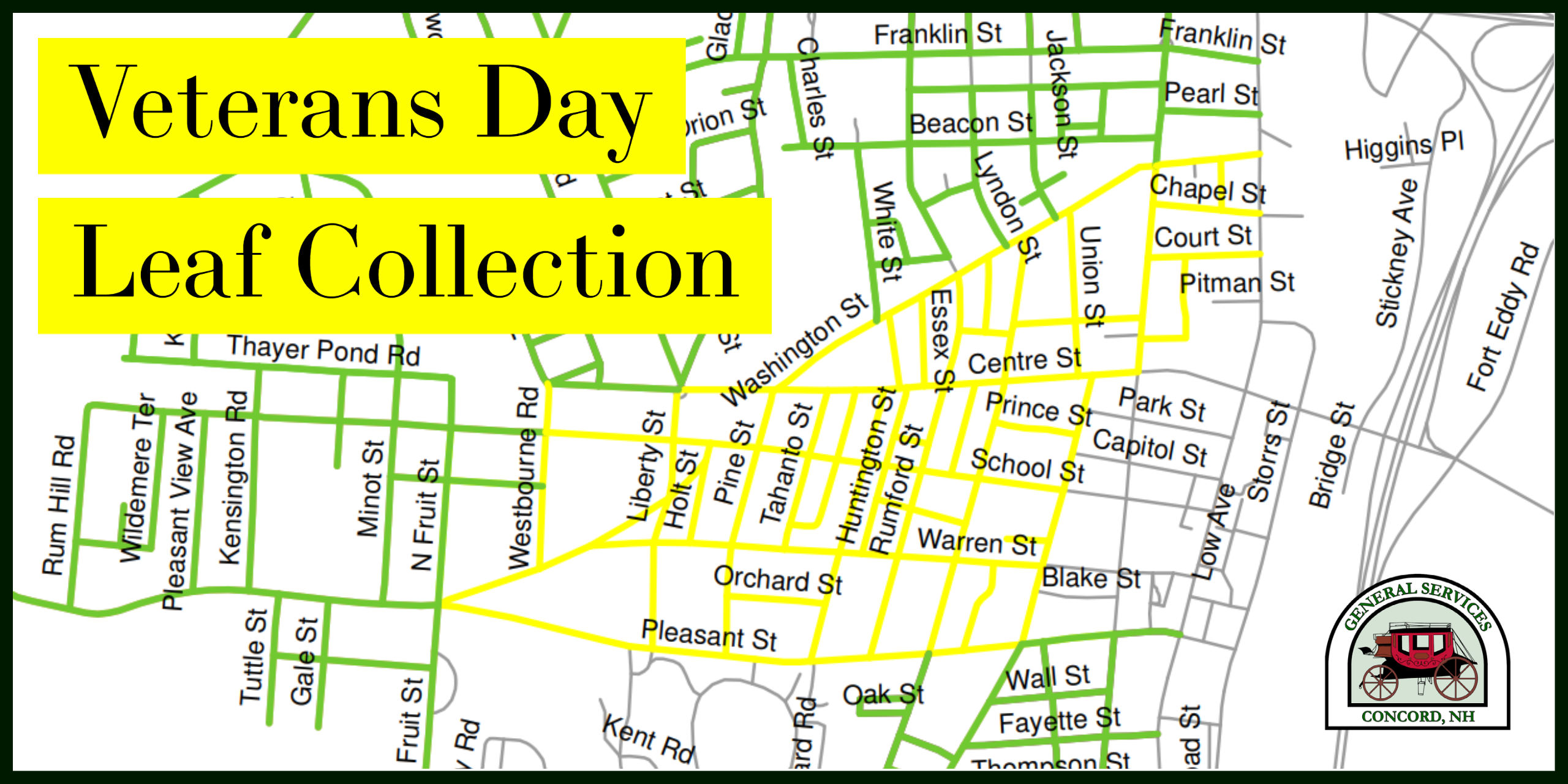 Veterans Day Leaf Collection Map