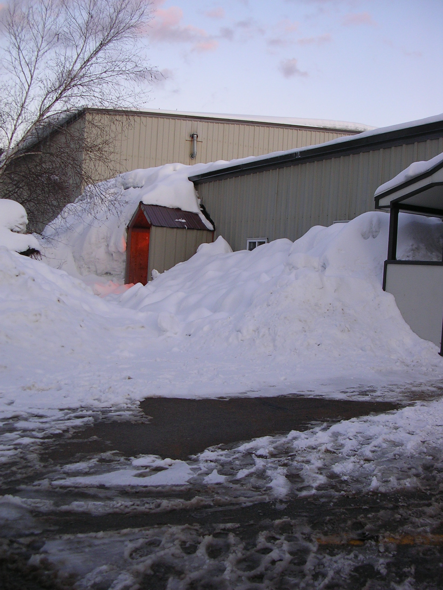Snow Load Against Building