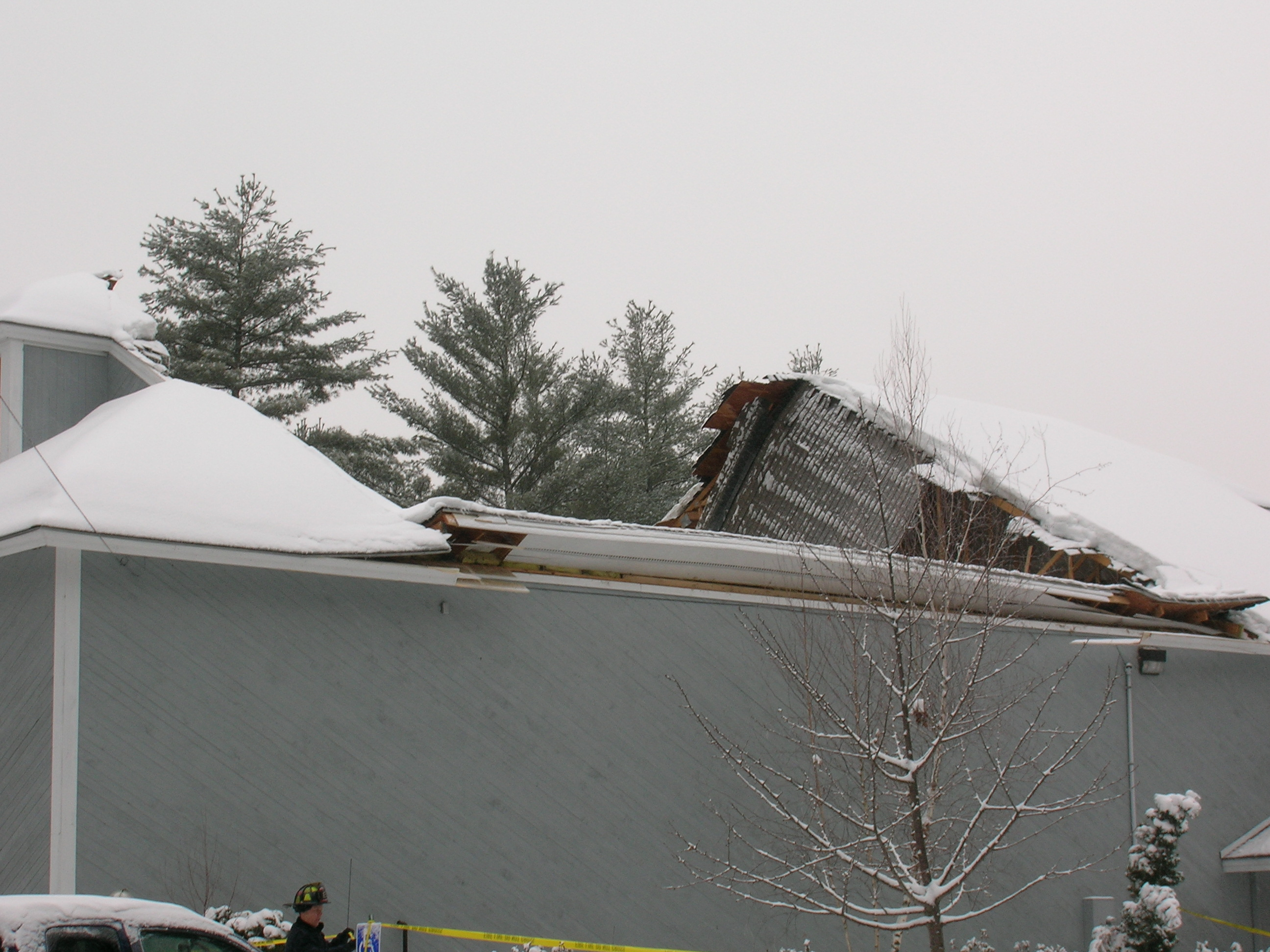 Building Collapse on Josiah Bartlett Rd.
