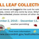 Concord General Services Fall Leaf Collection 2015