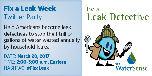 WaterSense Fix A Leak Week Twitter Party