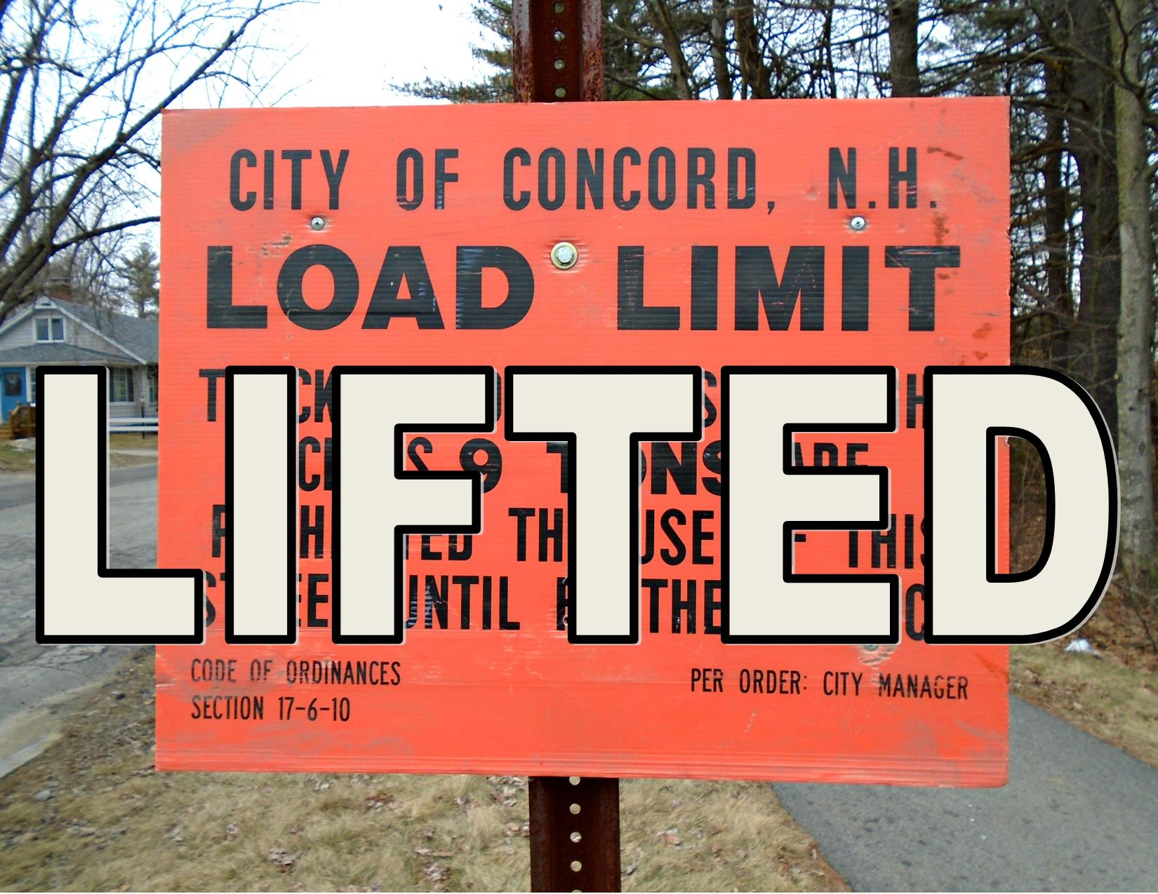 Concord Road Load Limited Lifted