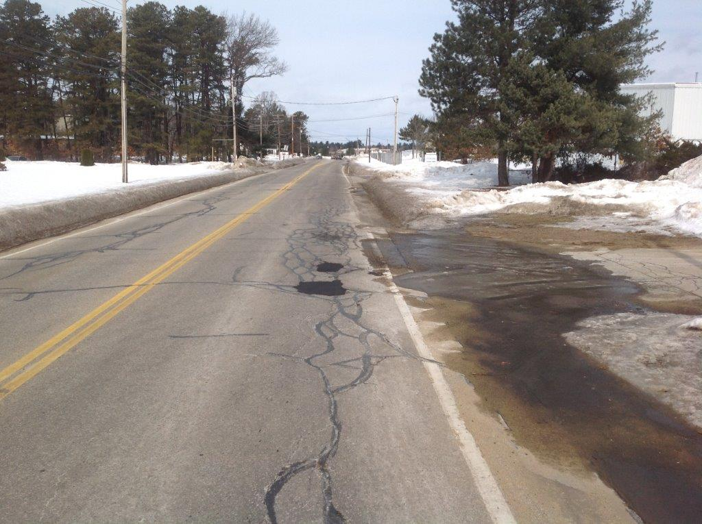 Concord Potholes Cracked Road