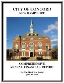 CAFR Fiscal Year 2013 Cover Page