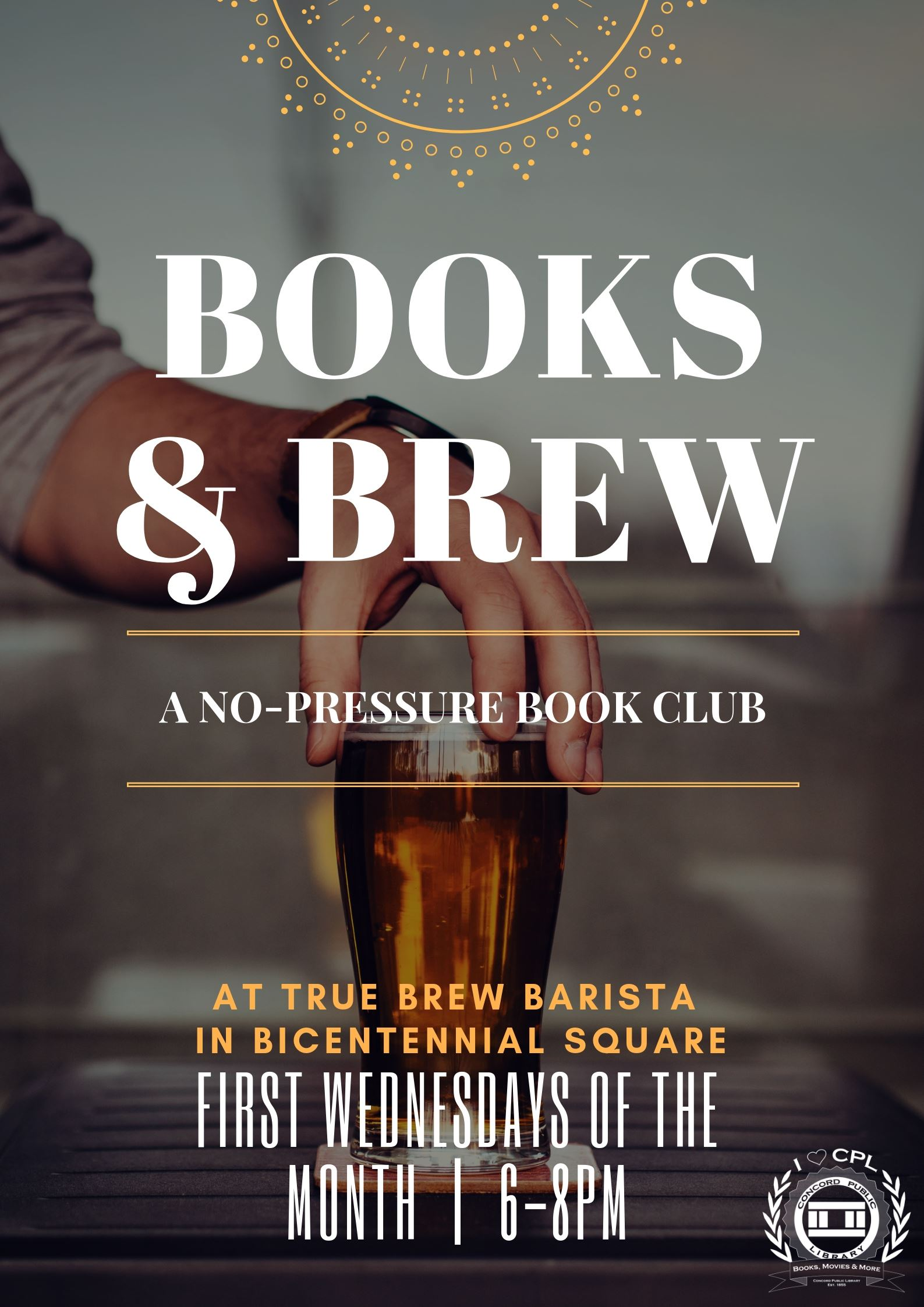 Books and Brew Poster